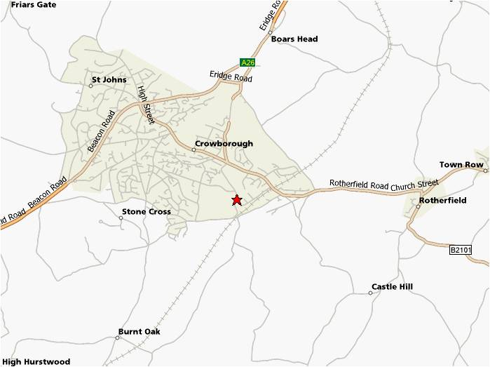 Crowborough Map